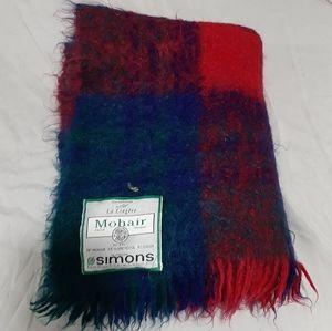 Vintage Mohair blend throw blanket 48 x 56 inche